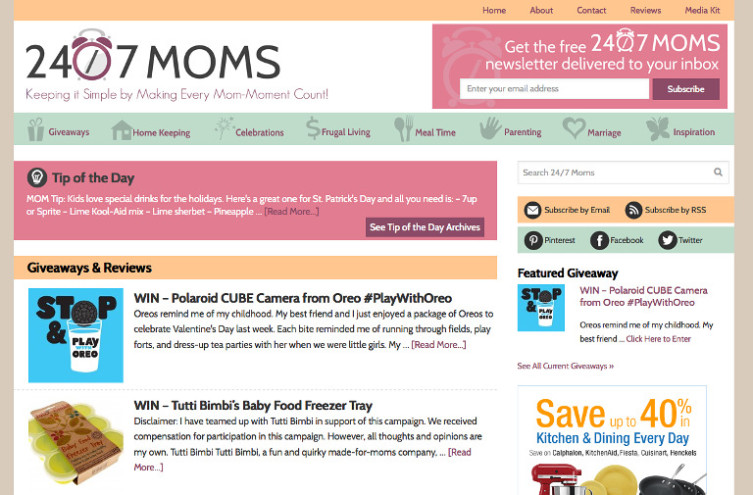 24/7 Moms - Most Famous Mom Blogs