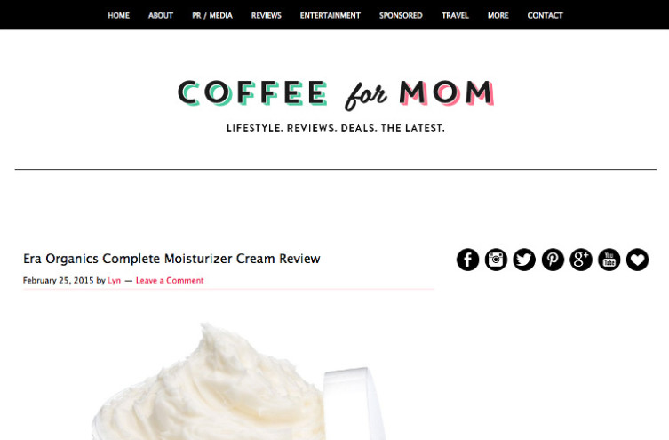 Coffee For Mom - Most Famous Mommy Blogs