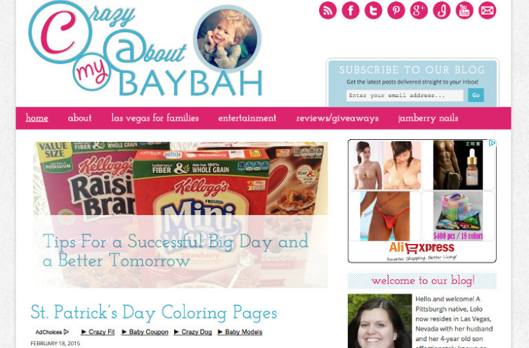 Crazy About My Baybah - Most Famous Mommy Blogs