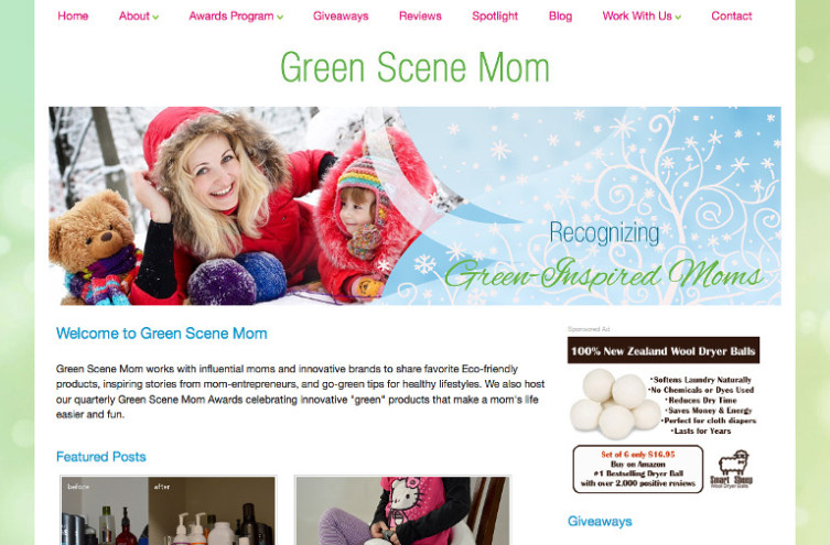 Green Scene Mom - Most Famous Mommy Blogs