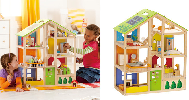 Hape All Season Dollhouse Furnished