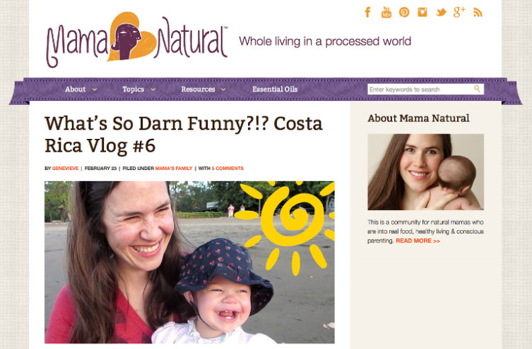 Mama Natural - Most Famous Mommy Blogs
