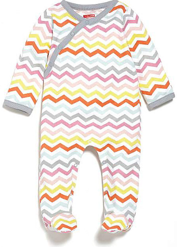 Skip Hop Modern Baby Basics Side Snap Footie