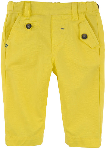 Tartine et Chocolat - Straight Cut Twill Trousers Sun Yellow