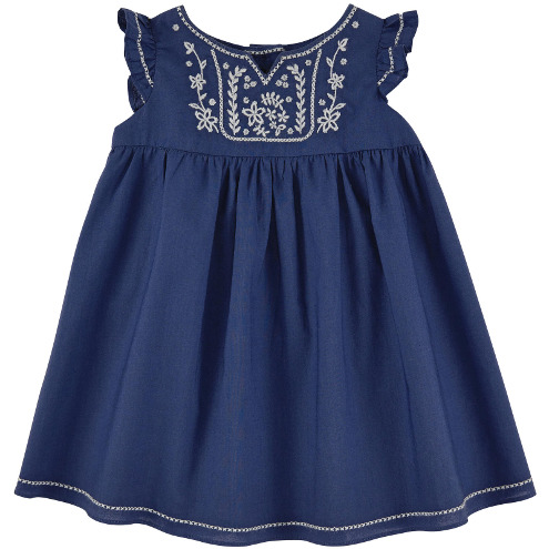Tartine et Chocolat -Jasmine voile dress Ultramarine
