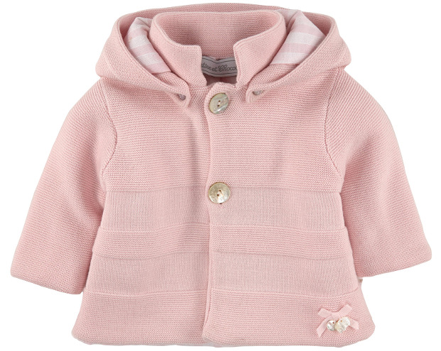 Tartine et Chocolat - Cotton knit Coat Light Pink