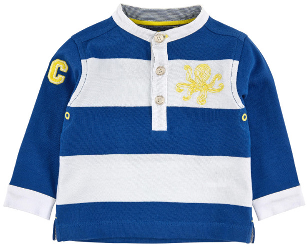 Tartine et Chocolat - Rugby Shirt Royal Blue and White