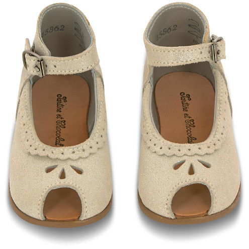 Tartine et Chocolat - Glittery Leather Babies Grey
