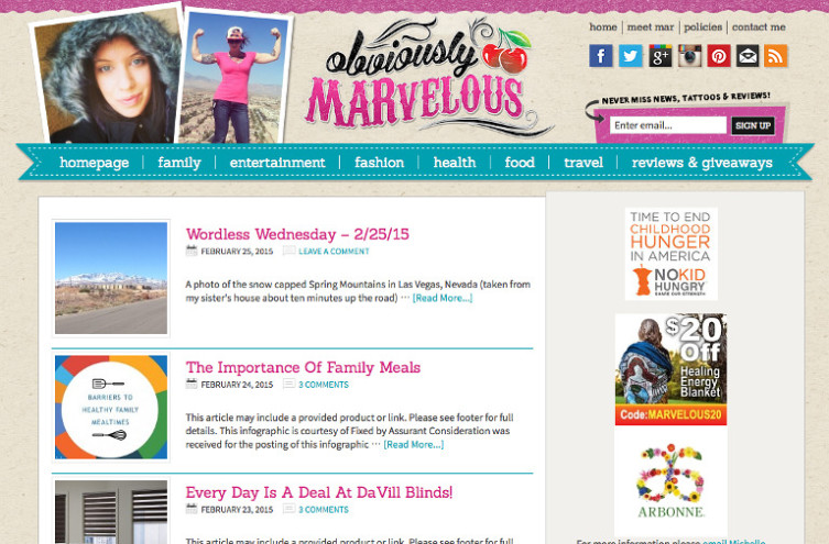 Obviously Marvelous - Most Famous Mommy Blogs