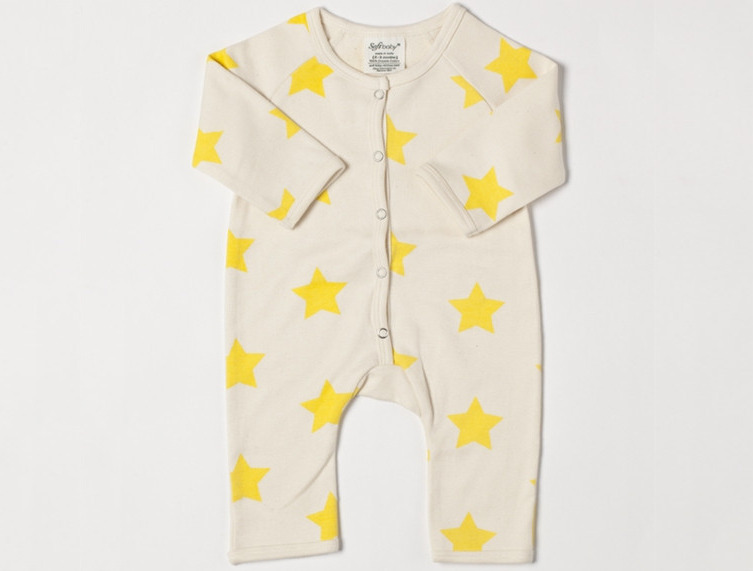 SoftBaby - Organic Cotton Playsuit Star