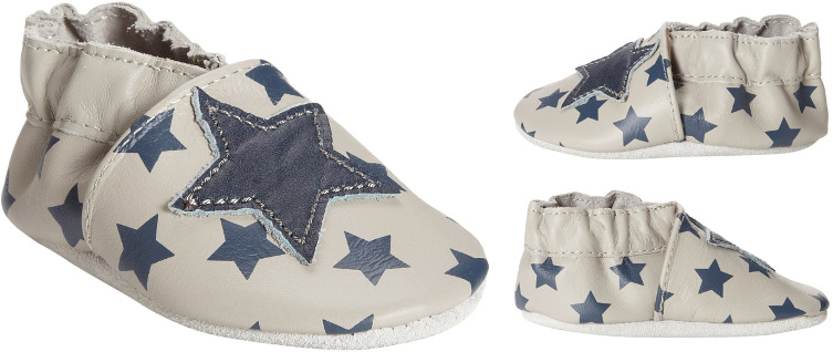 Robeez Modern Star Grey Soft Soles