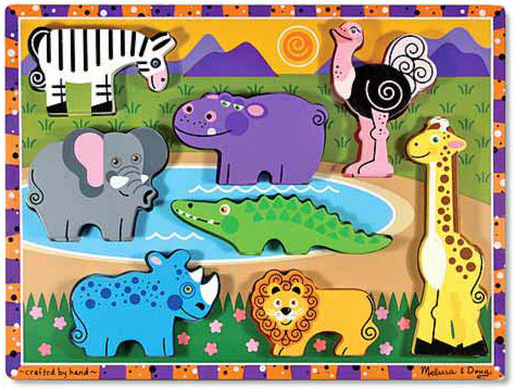 Melissa and Doug Chunky Puzzle Safari