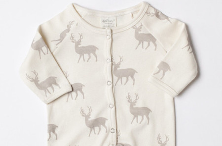 SoftBaby - Organic Cotton Playsuit Deer