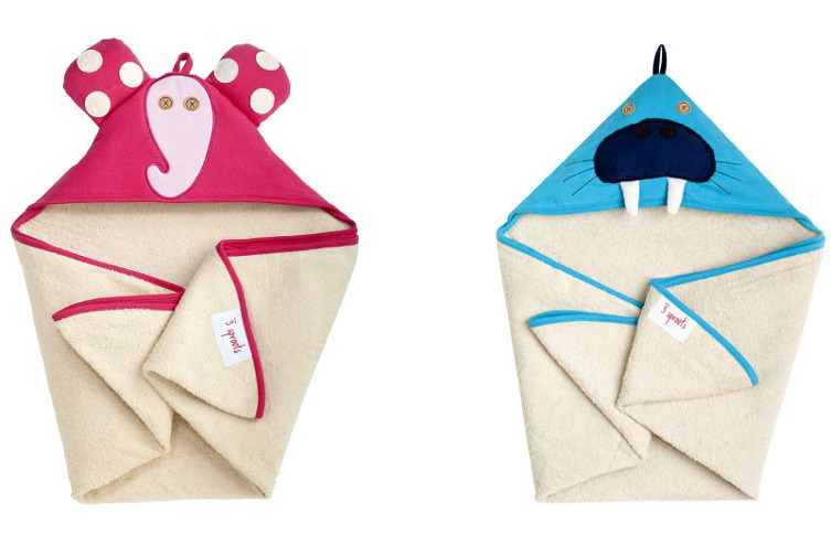 3 Sprouts Animal Hood Towel