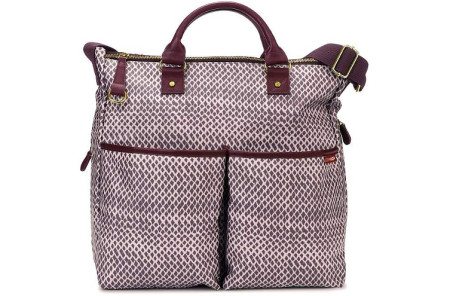 Skip Hop Duo Diaper Bag Plum Sketch